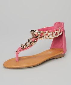 Another great find on #zulily! Link Fuchsia Nini T-Strap Sandal by Link #zulilyfinds