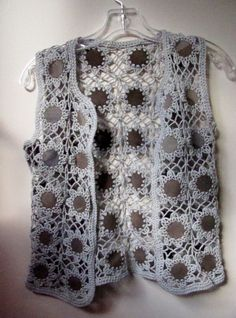 crochet and leather vest: moody Lords