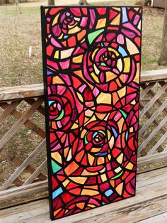 Glass paint ideas on pinterest paintings stained glass - Glass window painting ideas ...
