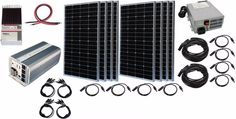 Solar panel Generator Hybrid 20 000 Watt Peak Power 8 Panel