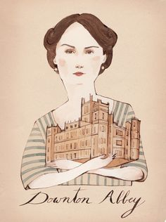 "Ooh! I think I might have to! ""Lady Mary"" by Kelsey Garrity Riley Illustration $20.00, via Etsy."