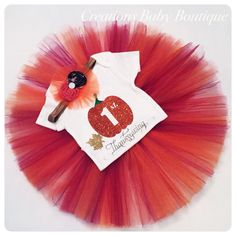 Baby girl thanksgiving outfit  , onesie, headband and tutu ,Thanksgiving outfit , thanksgiving set first thanksgiving clothes by CreationsBabyB on Etsy https://www.etsy.com/listing/459073484/baby-girl-thanksgiving-outfit-onesie