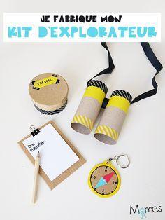 DIY : le kit d'explorateur ! Preschool Crafts, Diy Crafts For Kids, Gifts For Kids, Arts And Crafts, Paper Crafts, Art Kits For Kids, Diy Toys, Craft Kits, Allez Hop