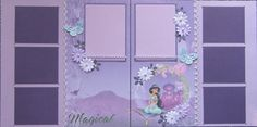 12x12 double page scrapbook layout Disney's Princess by ntvimage, $24.99