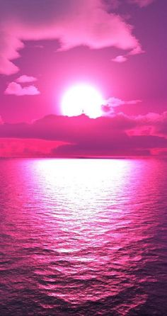 Pretty Pink Sunset ✿⊱╮even sunsets are better in pink! #pink