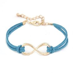 New Gold Plated Infinity Blue Leather Bracelet Brand New Fashion Women Gold Plated Infinity Love Symbol Charm Blue Faux Leather Bracelet Jewelry. Price is final. Feel free to browse my closet. Jewelry Bracelets