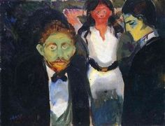 Jealousy. From the series The Green Room - (Edvard Munch)