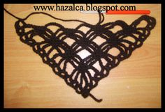 HAZALCA(yüreğimden parmaklarıma dökülenler): siyah tığ işi şal(sömestr şalı)