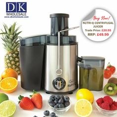 Easily fits large fruit and veg - with our extra-large feeding chute, easily fit large fruits and vegetables without pre-preparation. Dual speed modes suitable for all fruit and veg - our dual speed mode (and pulse function) make it easy to juice both soft and hard fruits and vegetables without destroying them. Healthy high-quality design - our juicer is BPA-free and has space for 0.5L of juice collection, as well as a 1.5L detachable pulp container. All Fruits, Fruits And Vegetables, Centrifugal Juicer, Domestic Appliances, Fruit Juicer, Thing 1, Fruit And Veg, Food Processor Recipes, Container