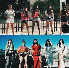 L to R: dinah, ally, normani, lauren, camila