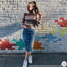 Beautiful outfits with midi skirts to give your jeans a rest | Women Outfits