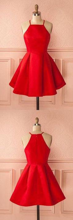 Prom Dresses For Teens, Short Straps Red Prom Dresses,Cheap Homecoming Dress for Girls Dresses Modest Cheap Homecoming Dresses, Prom Dresses For Teens, Dresses Short, Hoco Dresses, Trendy Dresses, Dance Dresses, Cheap Dresses, Cute Dresses, Formal Dresses