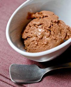 Chocolate Frozen Yogurt Recipe on Chocolate & Zucchini. Not totally healthy with heavy cream but better than reg ice cream?