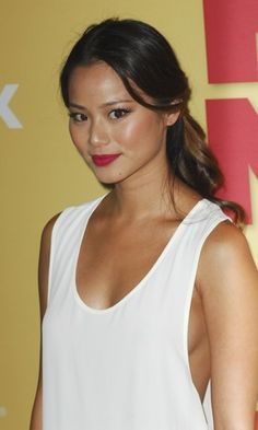 Jamie Chung - red lips, make-up