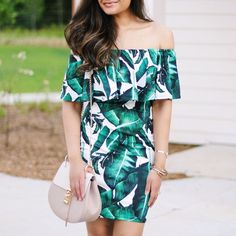 Palm Print Dress und