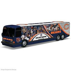 Jay Cutler And The Chicago Bears On The Road To Victory Bus Sculpture