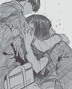 Shingeki no Kyojin - Levi and Mikasa Ackerman, I like to imagine them forming a strong sibling relationship