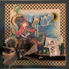 re-created by Carlene Prichard: Chatterbox Creations-1 : October 2012.  Graphic 45 Halloween card. (cased idea: Paradise Scrapbook Boutique).