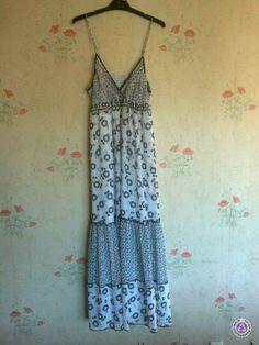 Clotheswap - Maxi Dress - Black and White Hippie Chick, Hippie Bohemian, Dress Black, Boho Chic, Summer Dresses, Black And White, Women, Fashion, Moda