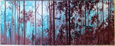 """Deep Woods"" 16 x 40  #oilpaint #oilpainting #oil #woods #mist #ghost #painting #fineart #impressionist #impressionism  #morganmacaulay"
