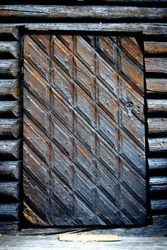 Door to Sollia church built in 1738, Norway Sollia, Stor-Elvdal, Hedmark, NORWAY Rondane