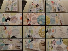 Wedding card collage! What a great way to display your wedding cards.
