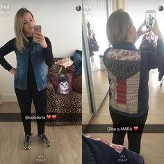 Olha que linda nossa cliente @jujunms apaixonada pelo seu colete #MoMa, personalizado!!! ❤️ #semprecoleteria #coleteria #jeans #personalizado #snapchat  www.coleteria.com.br