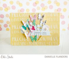 Card by Danielle Flanders using the new Cienna collection from Elle's Studio