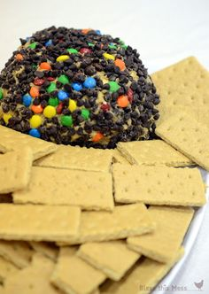 sweet cheese ball, cookie dough dip, PB cookie dough cheese ball, Monster cookie dip recipe