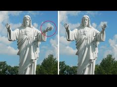5 Mysterious Moving Statues Caught On Camera moving Statues - 5 mysterious moving statues caught on camera. Your trusted source for Miracle Statue Comes Aliv. Religious Pictures, Jesus Pictures, Bizarre Facts, Weird Facts, Angel Sightings, Angel Clouds, Scary Gif, Paranormal Photos, Bizarre Pictures