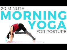 This 20 minute morning yoga routine is perfect ENERGIZING yoga that will also improve your posture with chest & shoulder stretches and BOOST yo. Yoga Videos For Beginners, Morning Yoga Routine, Morning Workouts, Different Types Of Yoga, Yoga Youtube, Bikram Yoga, Yoga Benefits, Yoga Flow, Yoga Fitness