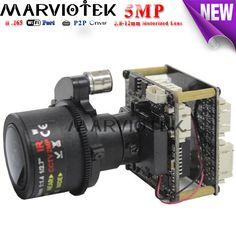 cctv surveillance 5MP Starlight ip camera module 3.6-11mm motorized lens Sony IMX178 H.265 wifi port audio alarm port support