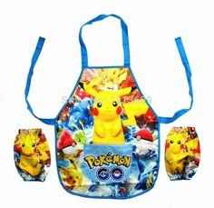 New Pokemon Apron Funny Cartoon Cooking Apron painting/drawing/eating clothes…