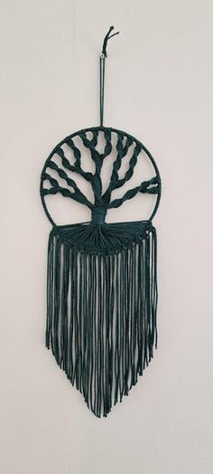 Large Macrame Wall Hanging, Amazing Gifts, Handmade Christmas Decorations, Handmade Items, Handmade Gifts, Gifts For Mum, Modern Wall Art, Green Cotton, Etsy Store