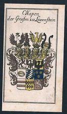 1740 - Graf von Löwenstein Wappen Kupferstich