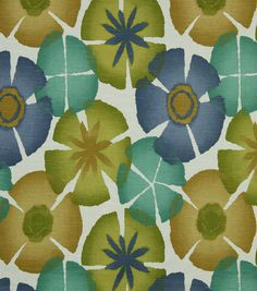 Upholstery Fabric-Robert Allen Pure Petals Ultramarine, , hi-res