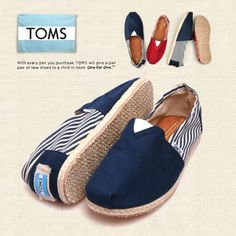 Toms Classics Women Mazarine Split Joint Stripe Charming