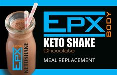 KETO SHAKE meal replacement for fat loss. This chocolate MR shake provides long lasting satiety, helps reset metabolism and contains vitamins, minerals and healthy fats.