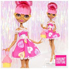 """Monster Doll Haunt Couture """"Be Mine"""" Valentine's Day high fashion fierce look by HauntCoutureAtelier"""