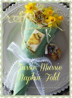 Tussie Mussie Napkin Fold