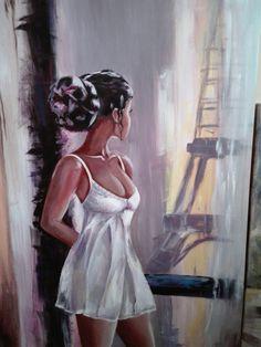 #Paris #akryl #girl #