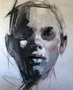 Paintings by ryan hewett Similarities t Paintings Portraits Abstract Portrait, Portrait Art, Art And Illustration, Figure Painting, Painting & Drawing, Painting Inspiration, Art Inspo, Kunst Inspo, Figurative Kunst