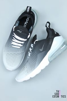 new product 2dba8 f94fe Explore our custom Nike Air Max 270 sneakers in this black ombre design. If  you love the 2018 Nike Air Max 270 then these Custom Nike shoes are perfect  for ...