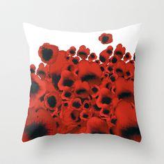 Poppies Throw Pillow by Marina Kanavaki - $20.00