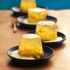 Limetten-Proseccogelee mit Mango