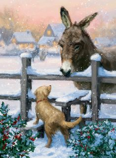 Leading Illustration & Publishing Agency based in London, New York & Marbella. Corporate Christmas Cards, Winter Pictures, Winter Art, Christmas Illustration, Design Show, Christmas Art, Artist At Work, Small Dogs, Decoupage