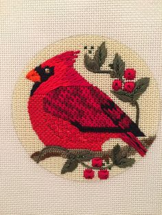 Split the Needles: Sunday Stitching Needlepoint Designs, Needlepoint Stitches, Needlepoint Kits, Needlepoint Canvases, Embroidery Stitches, Needlework, Bird Ornaments, Christmas Ornaments, Home Craft Decor