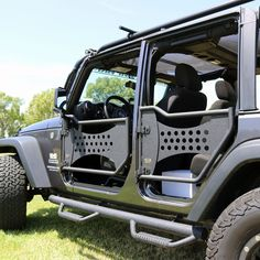 The Tuff Stuff® tube trail doors are a great addition to your Jeep wrangler JK for the spring & summer months. Get that cool breeze through the vehicle without breaking the bank and add some serious style points. Jeep Jk, Jeep Wrangler Doors, Jeep Doors, Jeep Truck, Jeep Gear, Jeep Rubicon, Jeep Wrangler Unlimited Accessories, Jeep Sahara, Jeep Trails