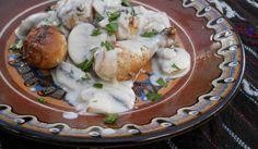 Просто разкош :) Пилешки #бутчета с бял гъбен #сос от Веселина Константинова http://recepti.gotvach.bg/r-52155