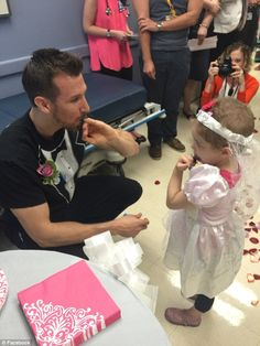 Matt and staff at the hospital's Melodies Center arranged the wedding after Abby's mom told him her daughter was excited to come to the clinic that week because she was looking forward to marrying him